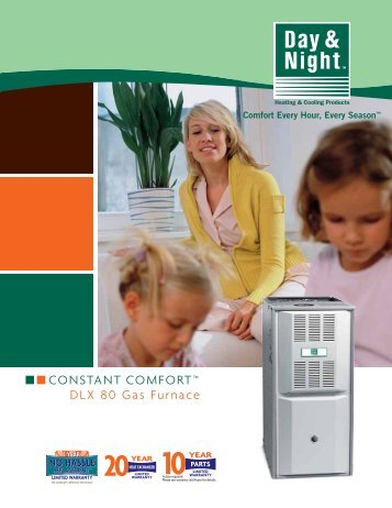 CONSTANT COMFORT™ DLX 80 Gas Furnace - Day & Night