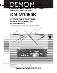 Sound - Denon-DN-M1050R-manual - SXS Events