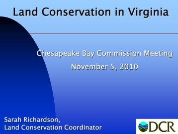 Land Conservation in Virginia
