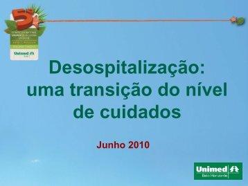 Desospitalização: uma transição do nível de cuidados