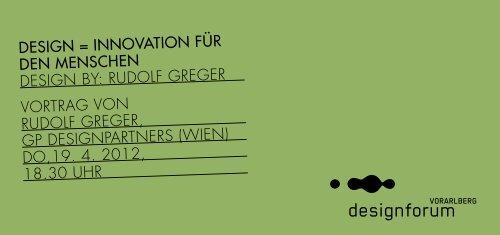 DESIGN = INNOVATION FÜR DEN MENSCHEN ... - Designaustria