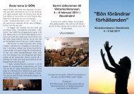 """Bön förändrar förhållanden"""" - EFS Mittsverige"""