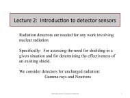 Lecture 2: Introduc on to detector sensors - Nuclear Physics