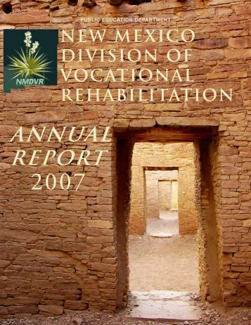 ANNUAL REPORT - New Mexico Division of Vocational Rehabilitation