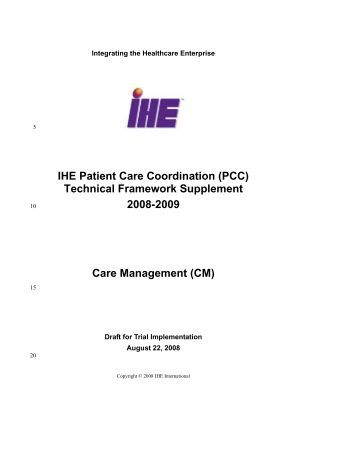 Care Management - IHE