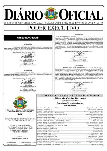 PODER EXECUTIVO - seplan - Governo do Estado de Mato Grosso