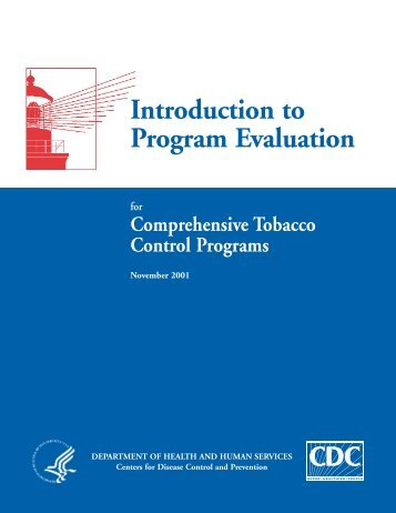Introduction to Program Evaluation - Centers for Disease Control ...