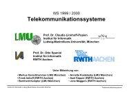 Telekommunikationssysteme - Informatik 4