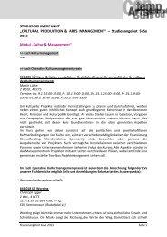 LV-Angebot WS 13/14 - Schwerpunkt Wissenschaft und Kunst
