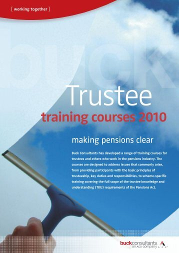 training courses 2010 - Engaged Investor