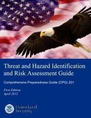 Threat and Hazard Identification and Risk Assessment Guide