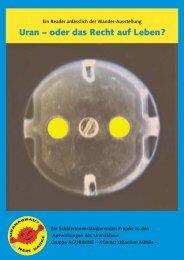 Uran – oder das Recht auf Leben? - Laka.org