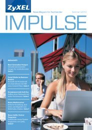 News Magazin für Fachhändler Sommer | 2010 - ZyXEL