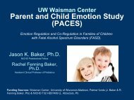 Parent and Child Emotion Study (PACES) - UW Family Medicine ...