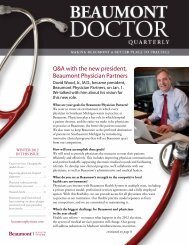Beaumont Doctor Quarterly, Winter 2012 - Beaumont physicians