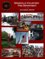 2012 Annual Report - Town of Greenville