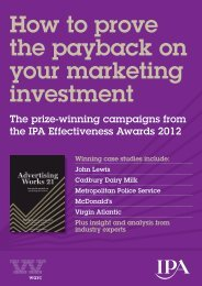 How to prove the payback on your marketing investment - Warc