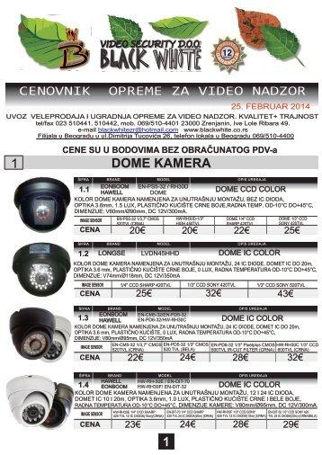 KK CENOVNIK FEBRUAR 2014 - BLACK WHITE Zrenjanin
