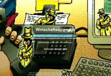 Wirtschaftsspionage IT-Sicherheit - Prof. Dr. Heinz-Michael Winkels
