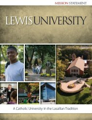 The Mission Statement - Lewis University