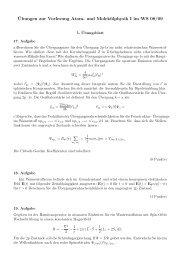 ¨Ubungen zur Vorlesung Atom- und Molekülphysik I im WS 08/09