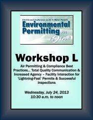 Workshop L - MEC Seminars & Conferences