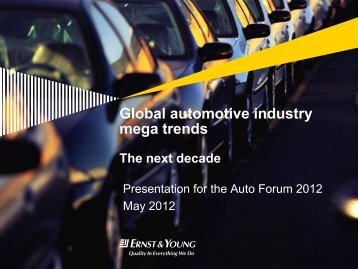mega trends The next decade - Automotive Forum