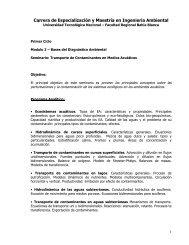 Carrera de Especialización y Maestría en Ingeniería ... - FRBB - UTN