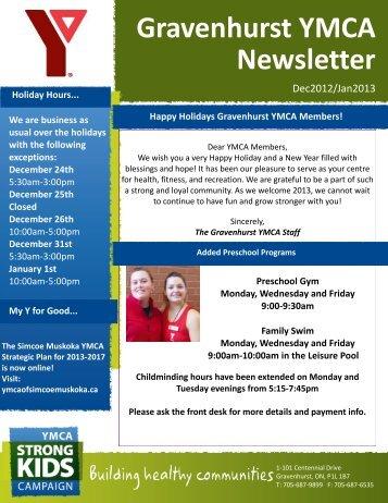 Gravenhurst YMCA Newsletter - YMCA of Simcoe/Muskoka