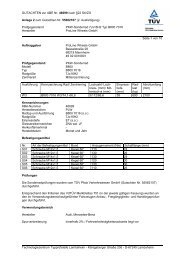 GUTACHTEN zur ABE Nr. 46699 nach §22 StVZO Anlage 2 zum ...