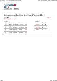 Swiss Tennis - Schweizerischer Tennisverband [swt04] - beim ...