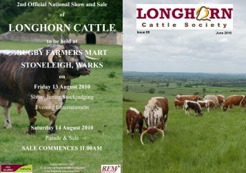 Newsletter No. 68 - Longhorn Cattle Society