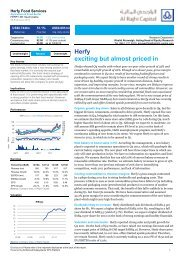 Herfy exciting but almost priced in - Al Rajhi Capital