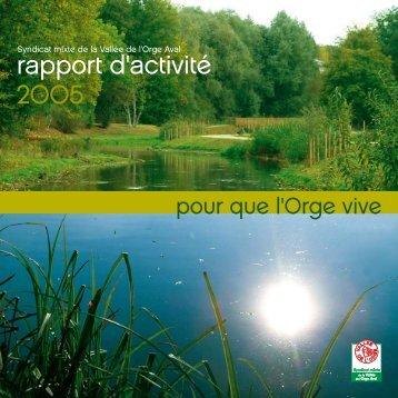 rapport d'activité 2005 - Sivoa