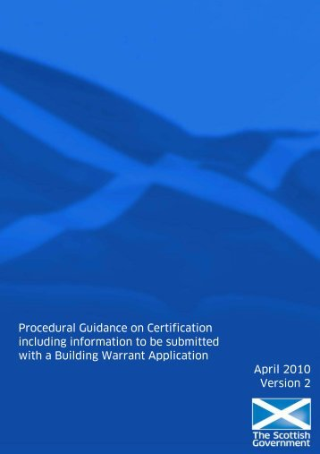 Certification Guidance - East Ayrshire Council
