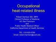 Occupational heat-related illness - Center for Occupational and ...