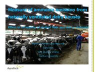 Measure of ammonia emission from naturally ventilated dairy ... - Inra