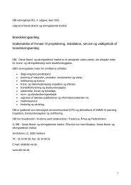 Brandsikringsanlæg Godkendelse af firmaer til projektering ...