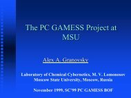 The PC GAMESS project at MSU