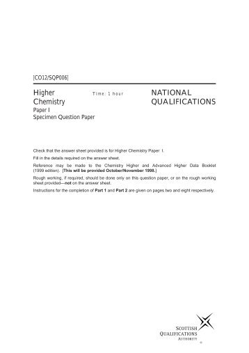 149223 specimen mark scheme for paper