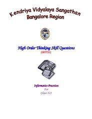 SOCIAL SCIENCE (HOTs Questions) INDIA AND THE     - ZIET Mysore