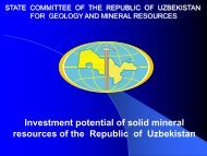 state committee of republic uzbekistan on geology and mineral ...