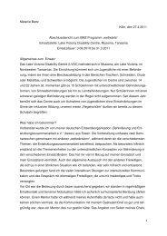 1 Melanie Bartz Köln, den 27.4.2011 Abschlussbericht ... - bezev eV