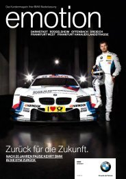 Emotion - BMW Niederlassung Bonn