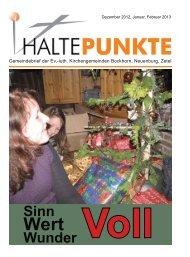 Haltepunkte 1/2013 - Ev.-luth. Kirchengemeinden in der Friesischen ...