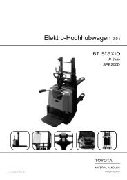 Elektro-Hochhubwagen Staxio SPE200D - Toyota Material Handling ...