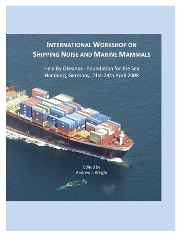 international workshop on shipping noise and marine mammals