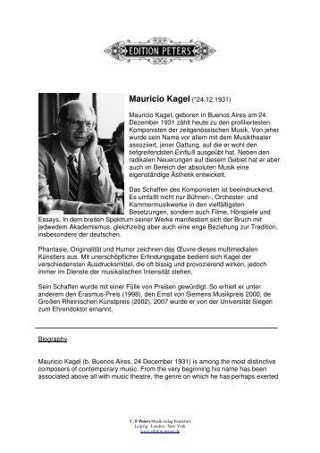 Mauricio Kagel (*24.12.1931)