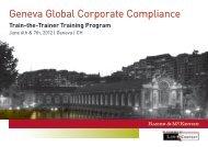 Geneva Global Corporate Compliance - LawInContext