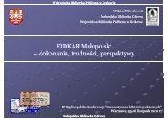 FIDKAR Małopolski – dokonania, trudności, perspektywy dokonania ...